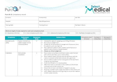 Example of a competency document